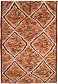 Barchi/Moroccan Berber 絨毯 197X292 モダン 手織り 深紅色の/茶 (ウール, アフガニスタン)
