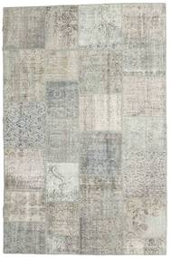 Patchwork Rug 196X302 Authentic  Modern Handknotted Light Grey/Dark Beige (Wool, Turkey)