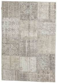 Patchwork Rug 160X232 Authentic  Modern Handknotted Light Grey/Light Brown (Wool, Turkey)