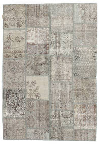 Patchwork Rug 158X232 Authentic  Modern Handknotted Light Grey (Wool, Turkey)