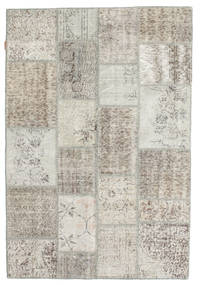 Patchwork Rug 138X200 Authentic  Modern Handknotted Light Grey/Dark Beige (Wool, Turkey)