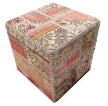 Patchwork stool ottoman teppe BHKW53