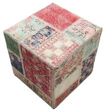 Patchwork stool ottoman carpet BHKW74