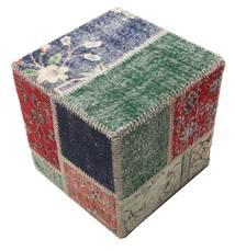 Patchwork stool ottoman rug BHKW95