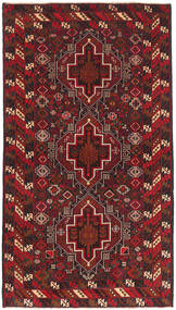 Baluch Rug 105X189 Authentic  Oriental Handknotted Dark Red (Wool, Afghanistan)