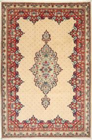 Yazd Matto 202X304 Itämainen Käsinsolmittu Tummanbeige/Beige (Villa, Persia/Iran)