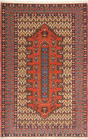 Ardebil Rug 170X267 Authentic  Oriental Handknotted Rust Red/Dark Brown (Wool, Persia/Iran)