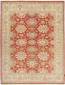 Ziegler Rug 172X227 Authentic  Oriental Handknotted Beige/Crimson Red/Dark Beige (Wool, Pakistan)