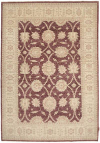 Ziegler Rug 194X277 Authentic  Oriental Handknotted Light Brown/Brown (Wool, Pakistan)