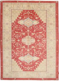 Ziegler Rug 210X285 Authentic  Oriental Handknotted Beige/Rust Red (Wool, Pakistan)