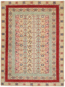 Ziegler Rug 211X283 Authentic  Oriental Handknotted Dark Beige/Dark Red (Wool, Pakistan)