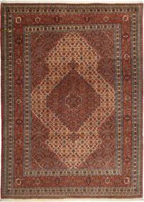 Sarab Matta 218X310 Äkta Orientalisk Handknuten Mörkröd/Mörkbrun (Ull, Persien/Iran)