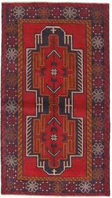 Beluch Teppe 100X185 Ekte Orientalsk Håndknyttet Mørk Lilla/Brun (Ull, Afghanistan)
