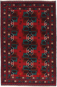 Baluch Rug 86X134 Authentic  Oriental Handknotted Dark Red/Crimson Red (Wool, Afghanistan)