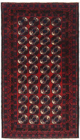 Baluch Rug 84X156 Authentic Oriental Handknotted Dark Red (Wool, Afghanistan)