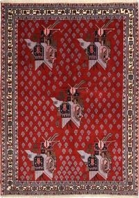 Afshar/Sirjan Matto 160X218 Itämainen Käsinsolmittu Ruoste/Tummanpunainen (Villa, Persia/Iran)