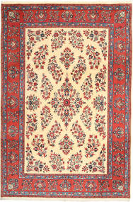 Yazd Rug 200X295 Authentic  Oriental Handknotted Brown/Yellow (Wool, Persia/Iran)