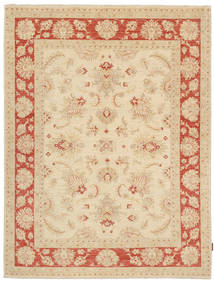 Ziegler Rug 168X225 Authentic  Oriental Handknotted Dark Beige/Beige (Wool, Pakistan)