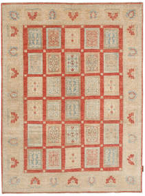 Ziegler Rug 150X201 Authentic  Oriental Handknotted Beige/Crimson Red (Wool, Pakistan)