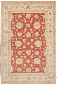 Ziegler Matto 202X318 Itämainen Käsinsolmittu Beige/Punainen (Villa, Pakistan)