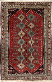 Yalameh Matto 157X248 Itämainen Käsinsolmittu Tummanpunainen/Vaaleanruskea (Villa, Persia/Iran)