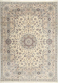 Nain 6La Habibian Matto 242X348 Itämainen Käsinsolmittu Vaaleanruskea/Beige (Villa/Silkki, Persia/Iran)