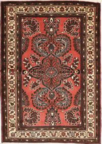 Mehraban Teppich  100X140 Echter Orientalischer Handgeknüpfter Dunkelrot/Dunkelbraun (Wolle, Persien/Iran)