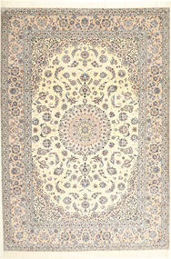 Nain 6La Rug 207X301 Authentic Oriental Handknotted Beige/Light Brown (Wool/Silk, Persia/Iran)