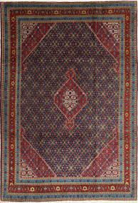 Ardebil Rug 202X285 Authentic  Oriental Handknotted Dark Red/Dark Grey (Wool, Persia/Iran)