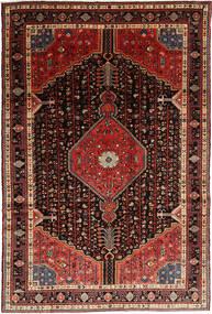 Hamedan Koberec 195X292 Orientální Ručně Tkaný Tmavě Červená/Hnědá (Vlna, Persie/Írán)
