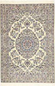 Nain 6La Teppe 101X147 Ekte Orientalsk Håndknyttet Beige/Lys Grå (Ull/Silke, Persia/Iran)