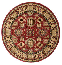 Shirvan Kazak Rug Ø 200 Oriental Round Dark Red/Light Brown ( Turkey)