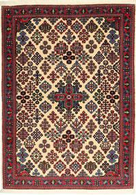 Meimeh Χαλι 117X160 Ανατολής Χειροποιητο Μπεζ/Μαύρα (Μαλλί, Περσικά/Ιρανικά)