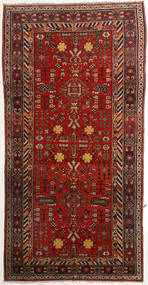 Taspinar Rug 171X342 Authentic  Oriental Handknotted Hallway Runner  Dark Red/Rust Red (Wool, China)