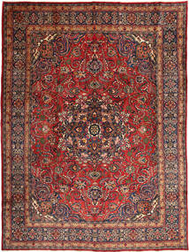 Mashad Rug 287X389 Authentic  Oriental Handknotted Brown/Dark Red Large (Wool, Persia/Iran)