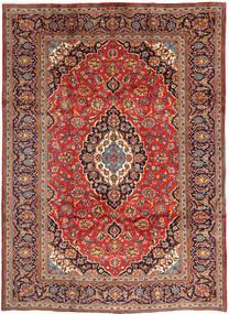 Keshan Matta 248X344 Äkta Orientalisk Handknuten Mörkröd/Mörklila (Ull, Persien/Iran)