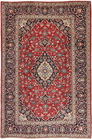 Keshan Rug 198X304 Authentic  Oriental Handknotted Brown/Dark Blue (Wool, Persia/Iran)