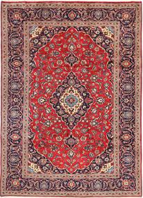 Keshan Matta 242X342 Äkta Orientalisk Handknuten Brun/Mörklila (Ull, Persien/Iran)