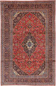 Keshan Rug 246X378 Authentic  Oriental Handknotted Dark Red/Dark Brown (Wool, Persia/Iran)