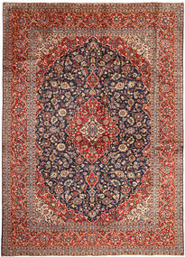 케샨 러그 291X407 정품  오리엔탈 수제 브라운/다크 퍼플 대형 (울, 페르시아/이란)