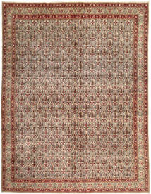 Moud Rug 306X397 Authentic  Oriental Handknotted Light Brown/Dark Red Large (Wool, Persia/Iran)
