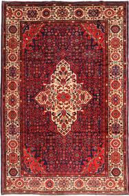 Hosseinabad Teppe 222X337 Ekte Orientalsk Håndknyttet Mørk Rød/Rust (Ull, Persia/Iran)