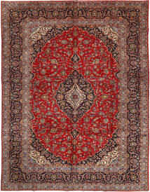 Keshan Rug 295X390 Authentic  Oriental Handknotted Brown/Dark Red Large (Wool, Persia/Iran)
