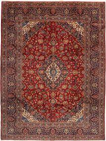 Keshan Tapijt 275X370 Echt Oosters Handgeknoopt Donkerrood/Bruin Groot (Wol, Perzië/Iran)