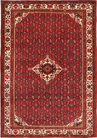 Hosseinabad Dywan 208X304 Orientalny Tkany Ręcznie Ciemnoczerwony/Ciemnobrązowy (Wełna, Persja/Iran)