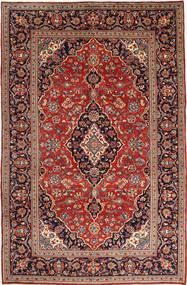 Keshan Matto 202X309 Itämainen Käsinsolmittu Ruskea/Tummanvioletti (Villa, Persia/Iran)