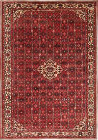 Hosseinabad Teppe 209X305 Ekte Orientalsk Håndknyttet Mørk Rød/Mørk Brun (Ull, Persia/Iran)
