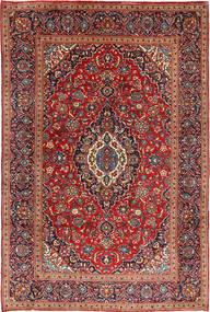 Kashan Covor 202X300 Orientale Lucrat Manual Maro/Ruginiu (Lână, Persia/Iran)