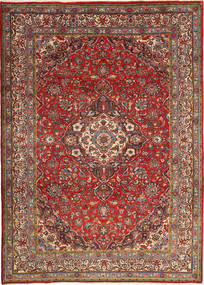 Sarough Matto 215X302 Itämainen Käsinsolmittu Tummanpunainen/Tummanruskea (Villa, Persia/Iran)