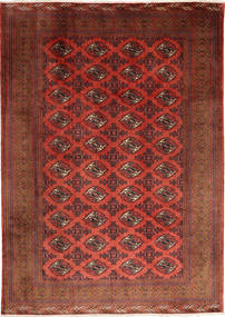 Turkaman Rug 202X288 Authentic  Oriental Handknotted Dark Red (Wool, Persia/Iran)